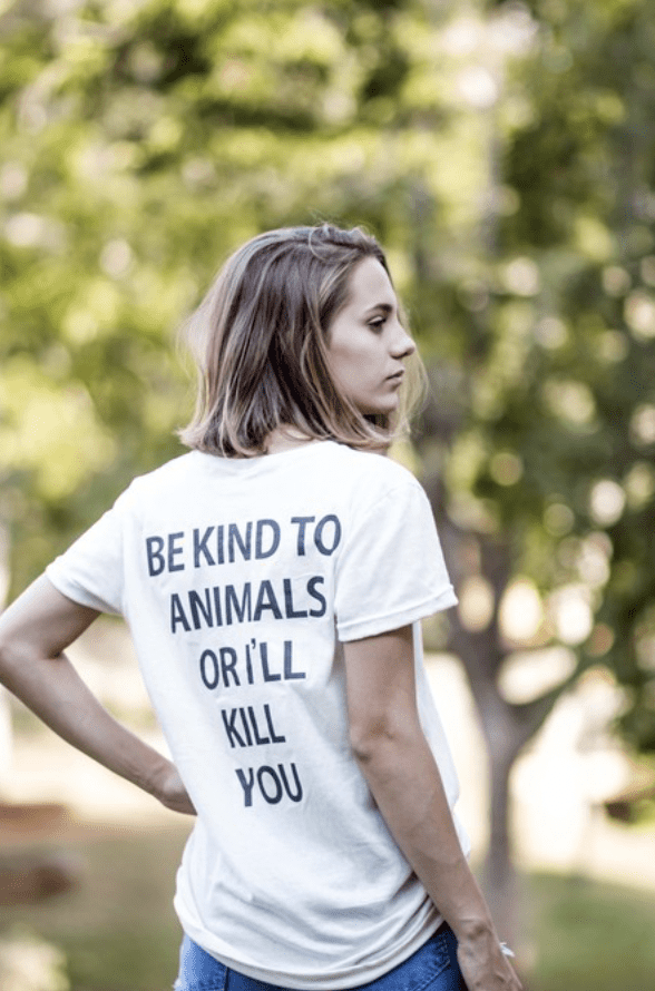 Pink Vanilla Shop Be kind to animals t-shirt wishlist caroline hernandes