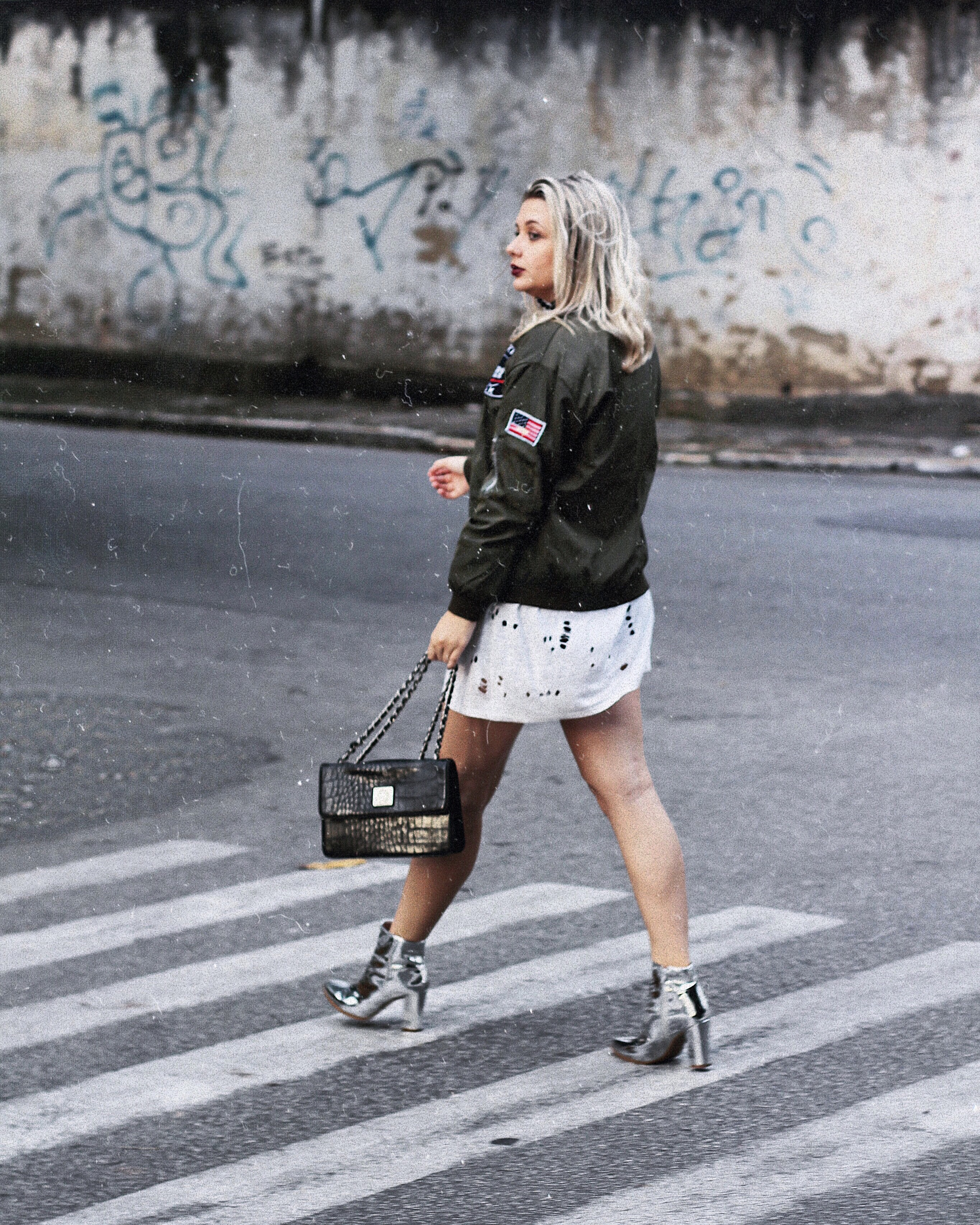look 2 formal classico caroline hernandes romwe compre na china  jaqueta militar look do dia street style