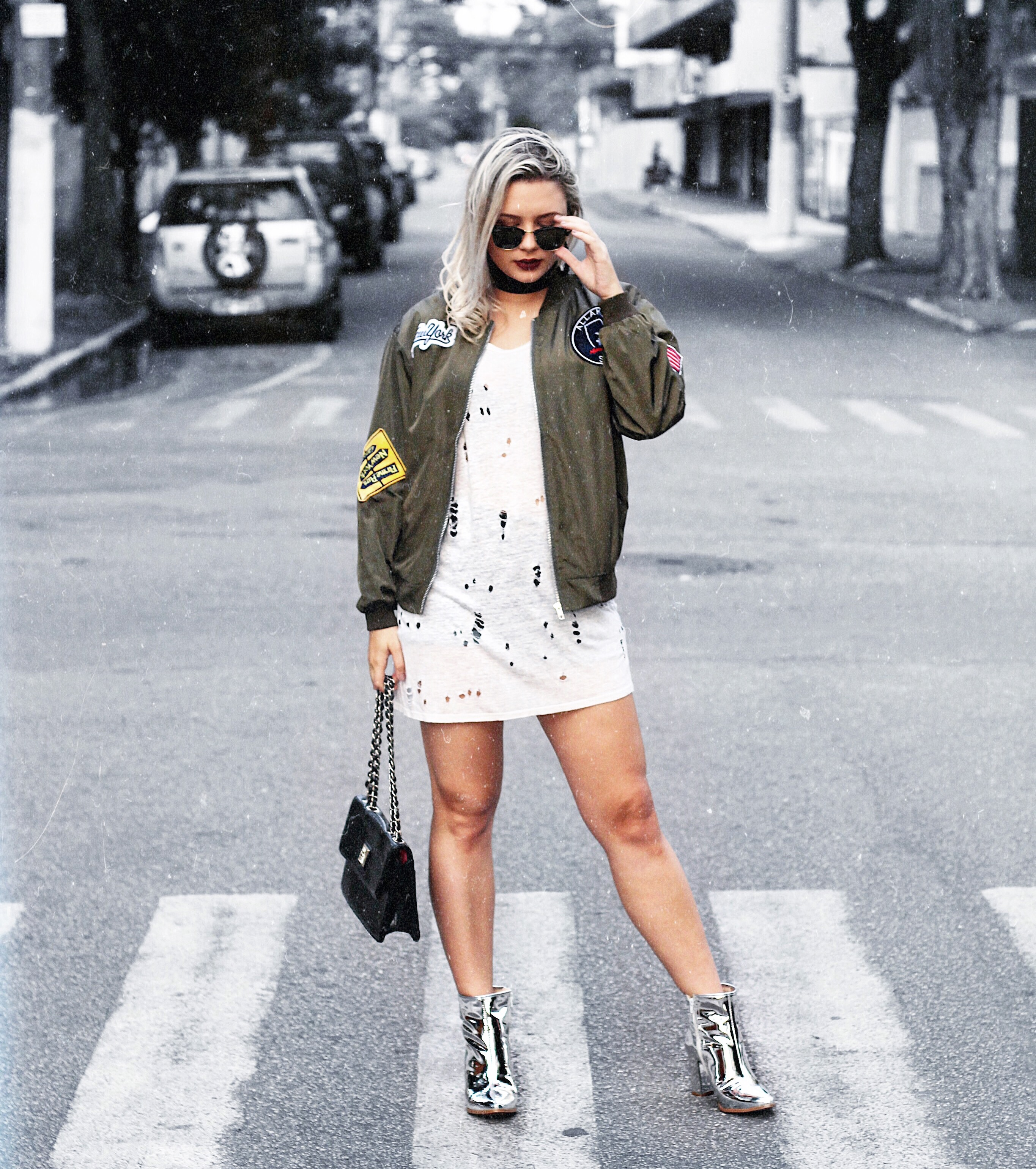 look 2 formal classico caroline hernandes romwe compre na china  jaqueta militar look do dia 2