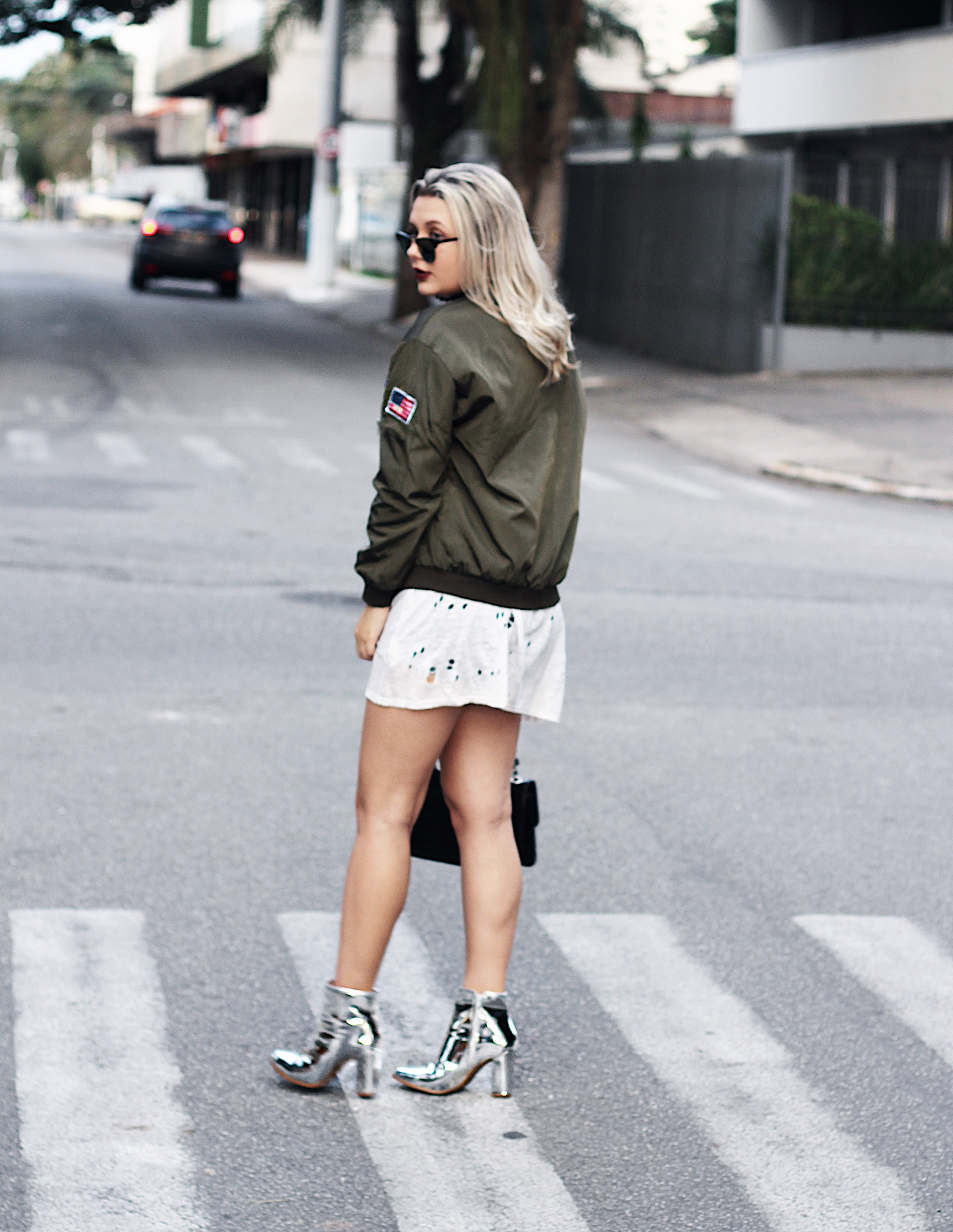 look 2 formal classico caroline hernandes romwe compre na china  jaqueta militar look do dia 5